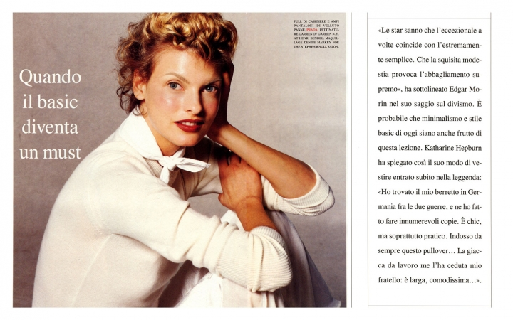 Linda Evangelista becomes Katharine Hepburn - photo by Stephen Meisel