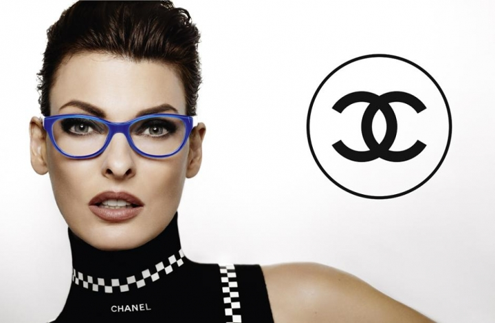 Linda Evangelista for Chanel Eyewear S/S 2012, ph. Karl Lagerfeld